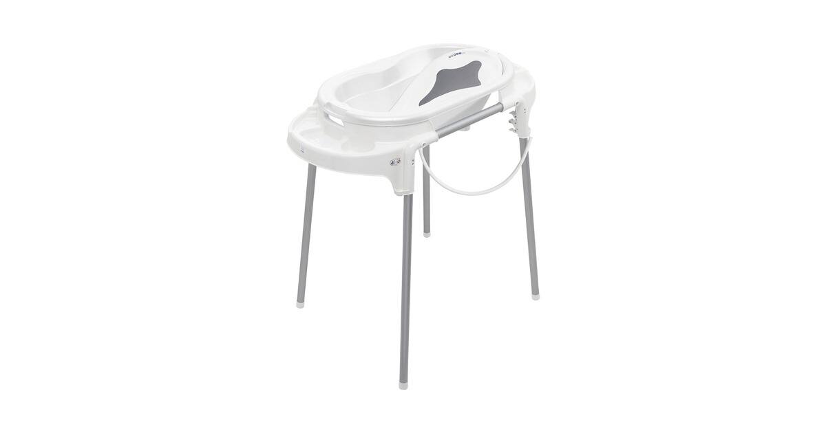 Rotho TOP Badewanne mit Ablaufstopfen für Babys Stone Grey NEU