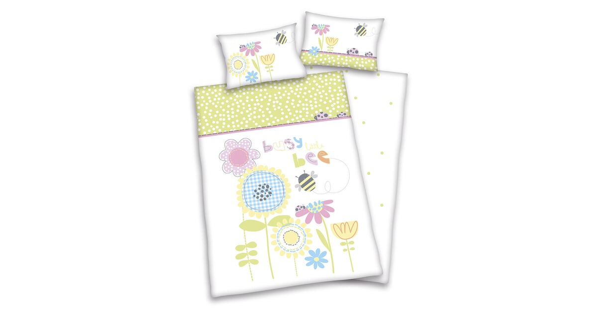 herding flanell bettw sche lara flowers 40x60 100x135 cm online kaufen baby walz. Black Bedroom Furniture Sets. Home Design Ideas