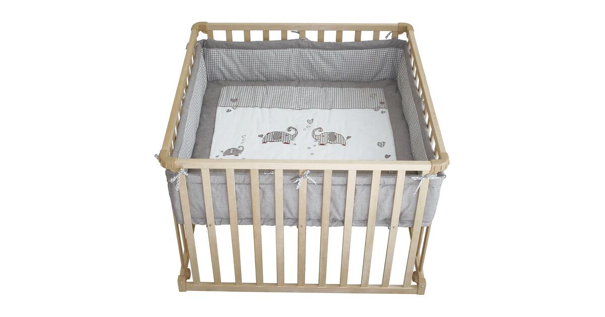 roba laufgitter jumbotwins h henverstellbar 100x100 cm online kaufen baby walz. Black Bedroom Furniture Sets. Home Design Ideas