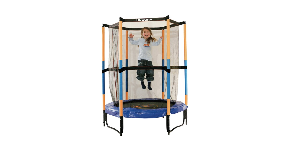 hudora trampolin jump in mit sicherheitsnetz f r den innenbereich online kaufen baby walz. Black Bedroom Furniture Sets. Home Design Ideas