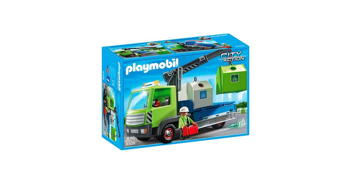 Playmobil Altglas LKW Spielzeug Lastwagen mit Containern für