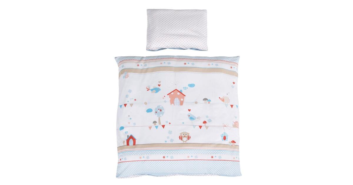 bornino home bettw sche vogelgl ck 40x35 80x80 cm online kaufen baby walz. Black Bedroom Furniture Sets. Home Design Ideas