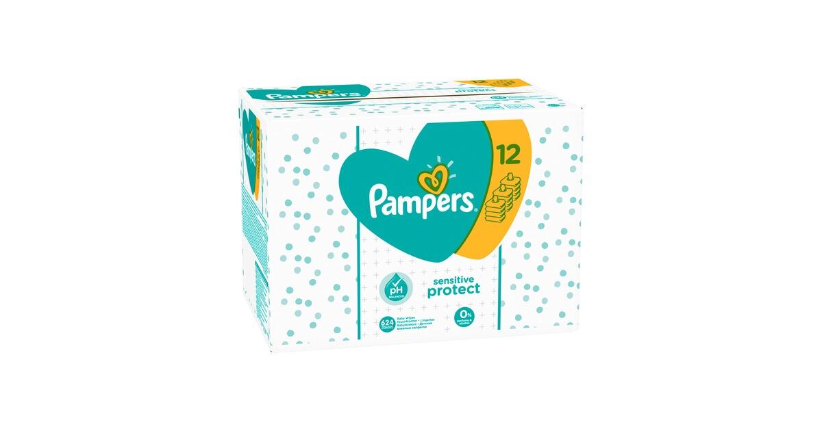 pampers 12er pack feuchtt cher sensitive 624 st ck online. Black Bedroom Furniture Sets. Home Design Ideas