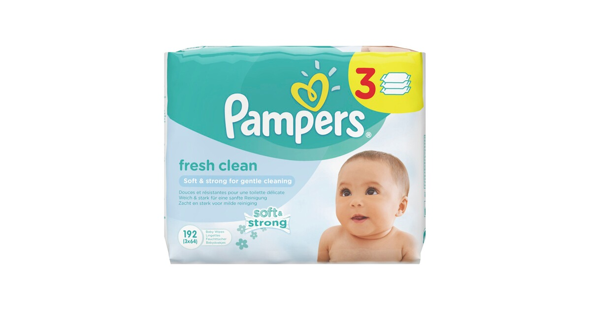pampers 3er pack feuchtt cher fresh clean 192 st ck. Black Bedroom Furniture Sets. Home Design Ideas