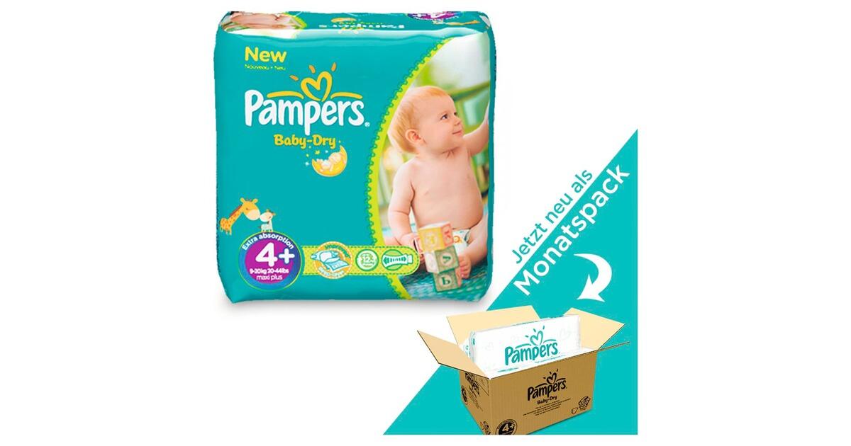 pampers baby dry windeln gr 4 9 18 kg monatsbox 152 st. Black Bedroom Furniture Sets. Home Design Ideas
