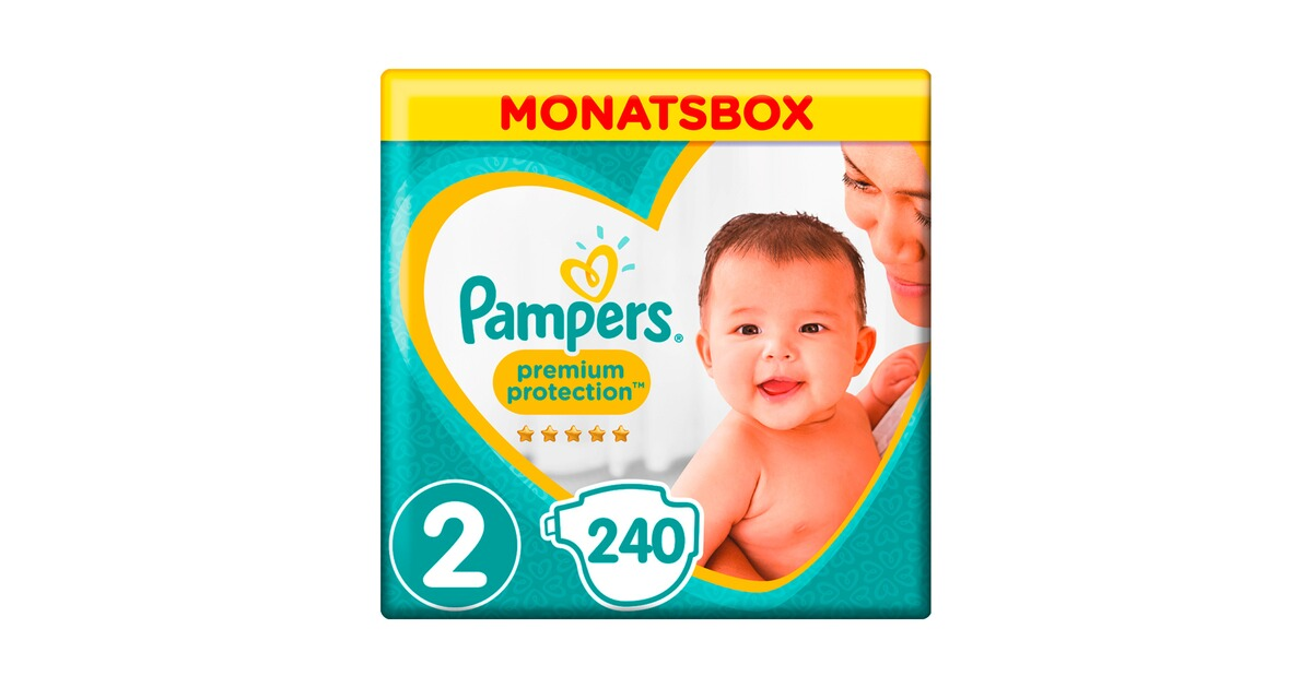 pampers premium protection windeln gr 2 4 8 kg monatsbox. Black Bedroom Furniture Sets. Home Design Ideas