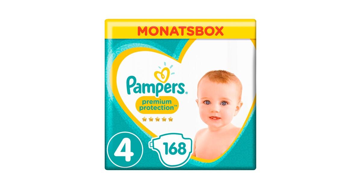 pampers premium protection windeln gr 4 9 14 kg monatsbox. Black Bedroom Furniture Sets. Home Design Ideas