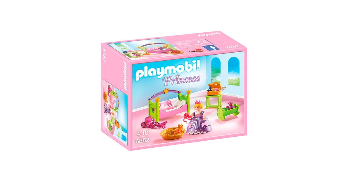 Playmobil princess 6852 prinzessinnen kinderzimmer online for Kinderzimmer play 01