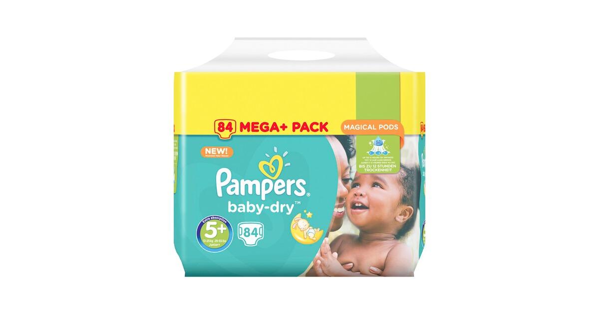 pampers baby dry windeln gr 5 13 25 kg mega plus pack 84. Black Bedroom Furniture Sets. Home Design Ideas