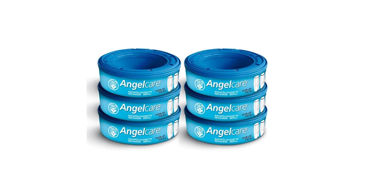 Deluxe 6er Pack Angelcare Nachfüllkassetten Windeleimer Comfort Comfort Plus