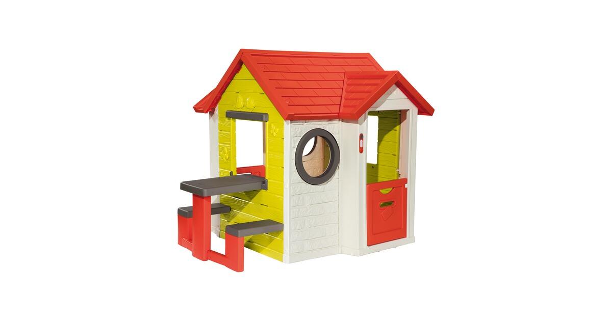 Sommerküche Smoby : Smoby spielhaus mit picknicktisch online kaufen baby walz