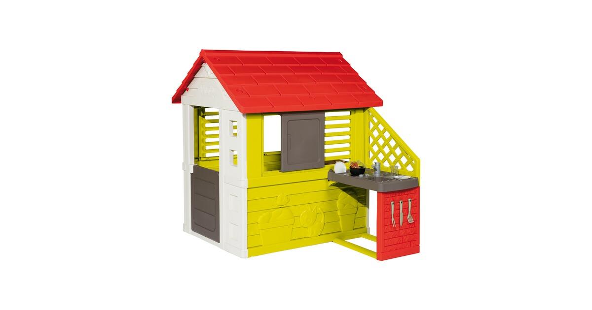 Naturhaus Mit Sommerküche Smoby : Smoby spielhaus natur mit sommerküche online kaufen baby walz