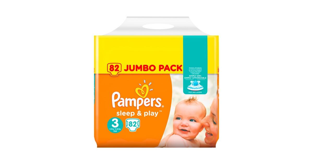 pampers sleep play gr 3 midi jumbo pack 5 9 kg 82 st. Black Bedroom Furniture Sets. Home Design Ideas