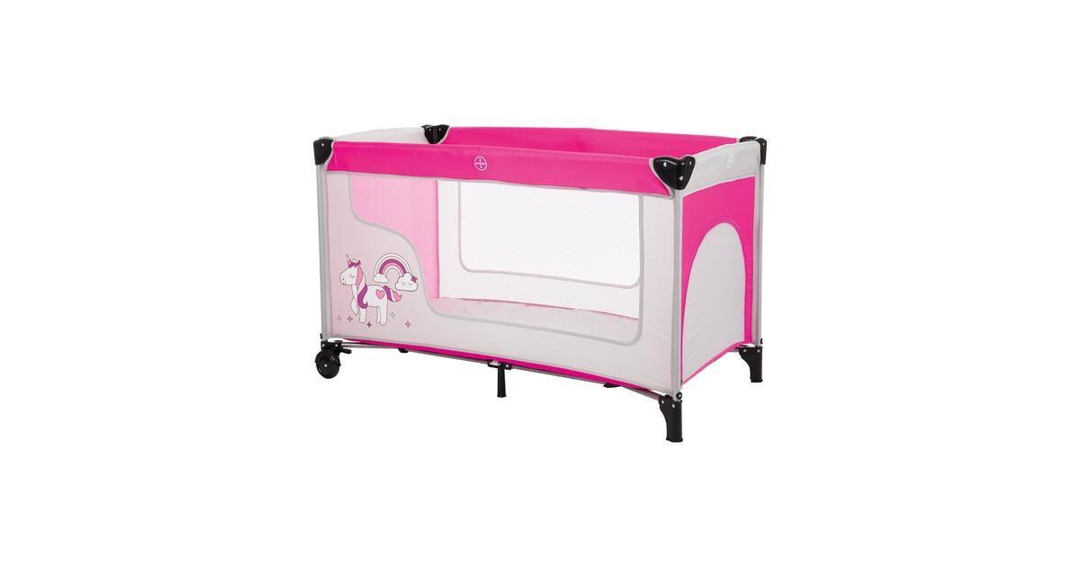 fillikid reisebett einhorn grau rosa online kaufen baby walz. Black Bedroom Furniture Sets. Home Design Ideas