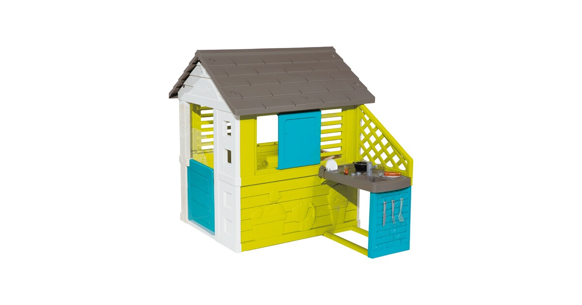 Spielhaus Mit Sommerküche : Smoby spielhaus mit sommerküche online kaufen baby walz