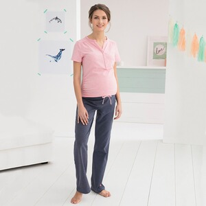 2hearts WE LOVE BASICS Umstands- und Still-Pyjama Sweet Dreams lang