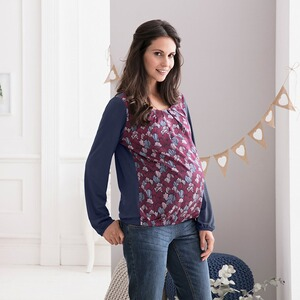 2hearts COSY & WILD Umstands-Bluse Satin