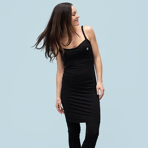 stillfashionUmstands- und Still-Top extra lang aus Tencel  black 1