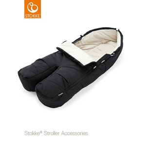 Stokke®  Winter-Fußsack für Kinderwagen Xplory, Trailz  black