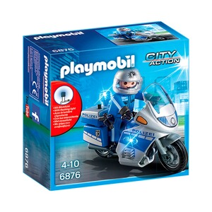 Playmobil®CITY ACTION6876 Motorradstreife mit LED-Blinklicht 1