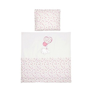 BORNINO HOME  Bettwäsche Flying Dumbo 35x40 / 80x80 cm  rosa