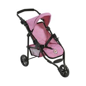 Bayer Chic 2000 Jogging Buggy Puppenwagen Kinderwagen LOLA anthrazit-pink NEU