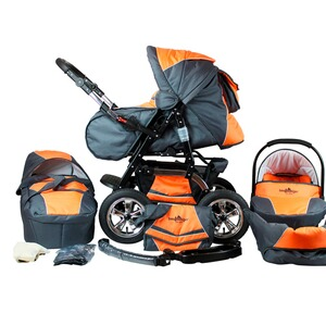 BergsteigerMilano Kombikinderwagen  orange/grey 1