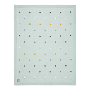 Lässig  Babydecke Dots 80x110 cm GOTS  light mint