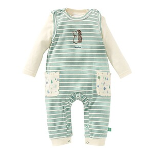 Bornino Forest Boys Strampler-Set Ringel Igel