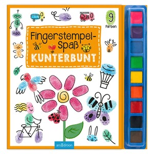 arsEdition  Malbuch Fingerstempel-Spaß Kunterbunt