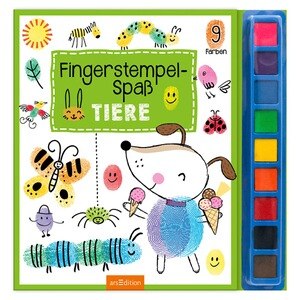 arsEdition  Malbuch Fingerstempel-Spaß Tiere