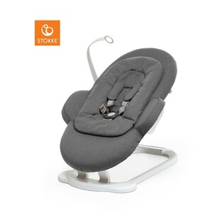 Stokke® STEPS™ Babywippe Bouncer  Deep Grey / white