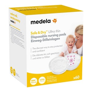 Medela  60er-Pack Einweg-Stilleinlagen Safe & Dry Ultra Thin