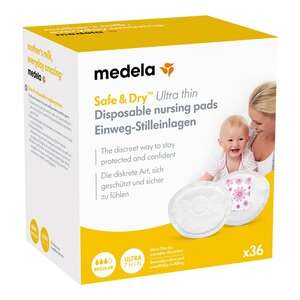Medela36er-Pack Einweg-Stilleinlagen Safe & Dry Ultra Thin 1
