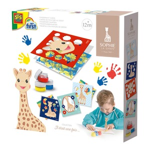 SES my first Fingerfarbenkarten - Sophie la girafe