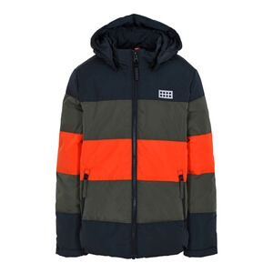 Lego Wear  Steppjacke LWJipe  orange/oliv/schwarz