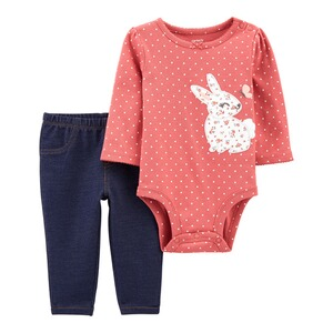 CARTER´S2-tlg. Set Body langarm und Jeggings Hase 1