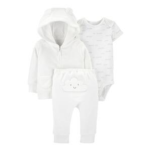 Baby Kurzarm Body Bio-Baumwolle,Gr.44//50,weiß-pink Mütze 3-tlg. Shirthose