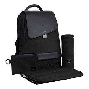 Moon  Wickelrucksack Backpack  black flap