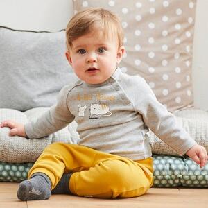 Sanetta Pure Baby-Jungen Sweatshirt in einem sanften Ringel-Look aus Bio-Baumwolle