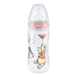 NUKDISNEY BABYAnti-Kolik-Weithals-Flasche First Choice Plus 300 ml, Kunststoff, 6-18M  Winnie Pooh rosa 1