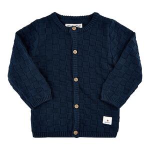 Gestreifter Baby Cardigan Babyj/äckchen Oberteil Pullover Baumwolljacke leicht T/ürkisblau Streifen Langarm 56 62 68 100/% Baumwolle