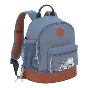 Lässig  Kindergartenrucksack Mini Backpack Adventure  Traktor blue denim