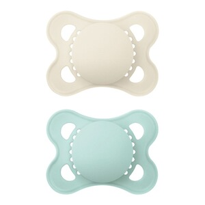MAM2er-Pack Schnuller Elements Latex, 0-6M  mint/beige 1