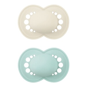 MAM2er-Pack Schnuller Elements Latex, 6-16M  mint/beige 1