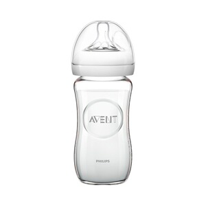 PHILIPS AVENT  Anti-Kolik-Weithals-Flasche Naturnah, SCF673/17, 240 ml, Glas, ab 1M