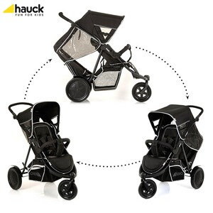 "HAUCK  La poussette double ""Freerider""  black"