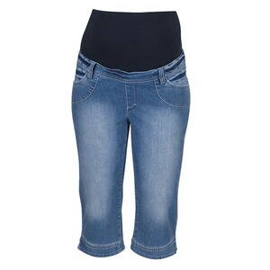 2HEARTS  Umstands-Capri-Jeans  stone washed