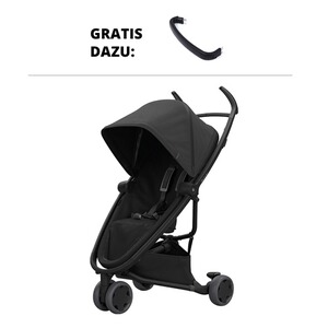 QUINNY ZAPP FLEX Buggy mit Liegefunktion Design 2018 incl. Spielbügel  black on black