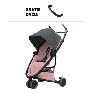 QUINNY ZAPP FLEX Buggy mit Liegefunktion Design 2018 incl. Spielbügel  graphite on blush